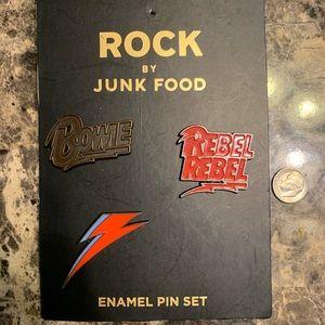 🍒FINAL PRICE 3 Junk Food David Bowie Pins